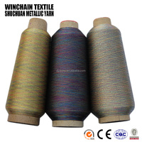MS type multi-color embroidery metallic threads