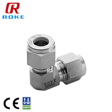 "OD 3/8"" Stainless Steel 90 Degree Double Ferrule Equal Elbow Tube fitting"