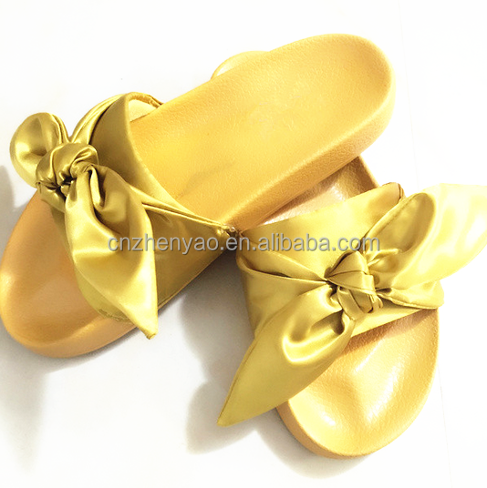 Wholesale Fashion ladies shoes Big Bow Sandals Nice Slippers Shoes Women Plastic Shoes