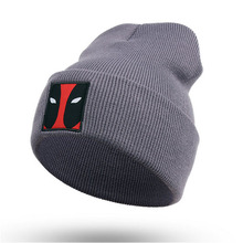F-3149 new winter autum popular unisex logo knit beanie hat ski sport cap
