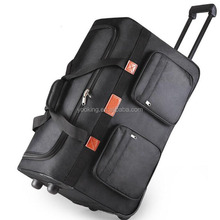 polyester foldable detachable travel trolley luggage bag