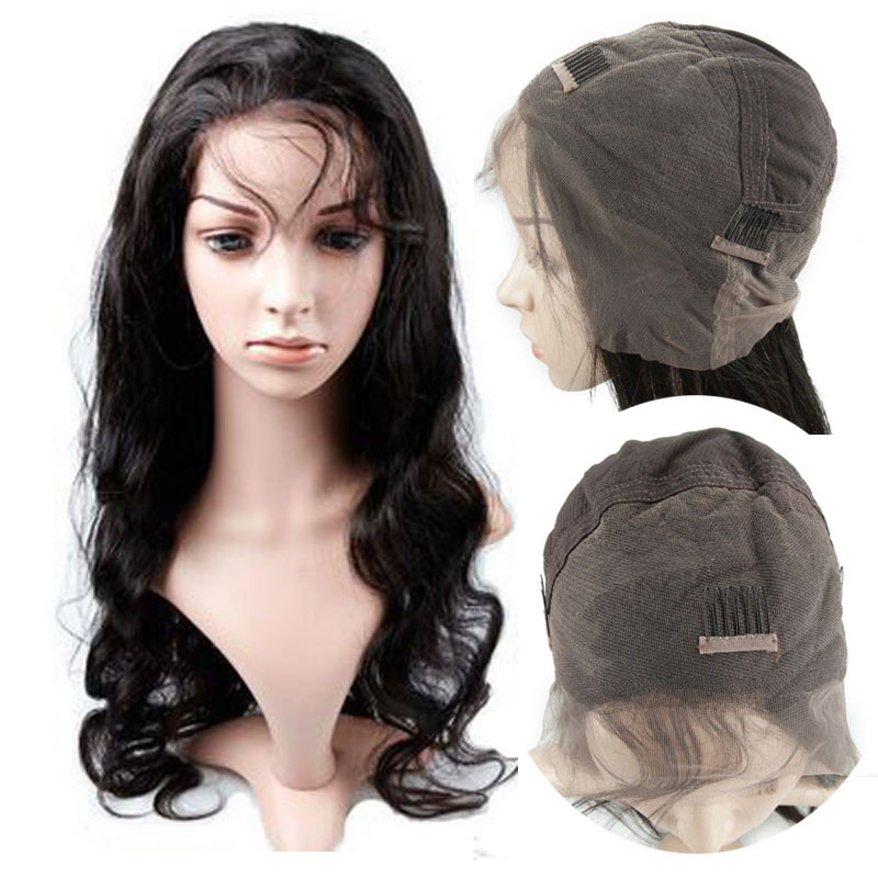 100% unprocessed body wave virgin Brazilian remy human hair full lace wig