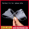 ultra thin clear tpu case with camera protected and anti dust cap for iphone 6