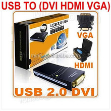 usb 2.0 to dvi vga converter adapter High-definition Multimedia Interface