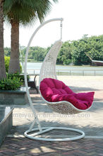 MH-6002 miami rattan wicker furniture white hanging chairs for bedrooms
