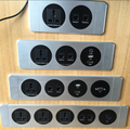 Smart wall mount panel hotel room media hub socket with HDMI