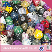 Hot sales Clear Acrylic or Resin D20 Dice Different Colored