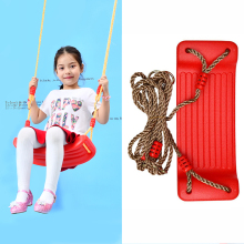 Wholesale Factory Fine Price Customized Garden outdoor plastic hanging swing seat set Toy with rope