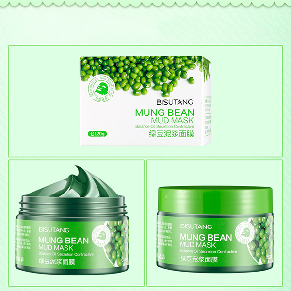 natural organic Mung bean dead sea mud mineral mask for face mask with oil control private label skin smoothing dead sea mud