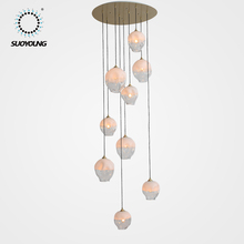Luxury Contemporary Decoration 8MM Blown Glass Ball Modern Chandelier Pendant Light