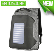 2018 Hot Convenient Waterproof solar power backpack with solar backpack charger for computers laptops