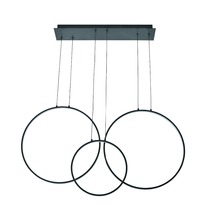 european modern creative round ring 3 or 4 circles chandelier led decoration pendant light