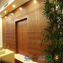 Acoustic Panelling Groove Melamine Laminate Wooden Veneer Wall Covering Panels