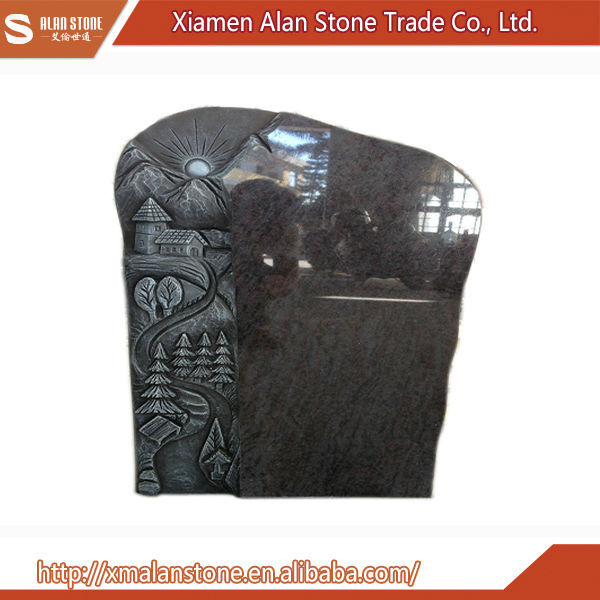 Latest design granite tree carving gravestone tombstone and monuments headstone
