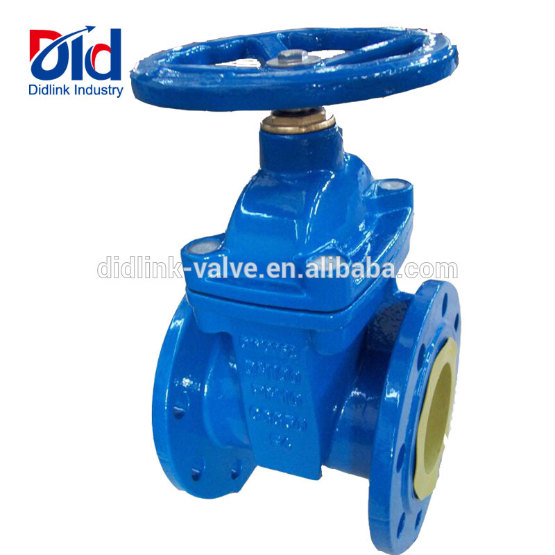 With Price 50mm Cast Iron Pn16 Dn100 Water Din 3352 F4 Resilient Seated Gate Flanged <strong>Valve</strong>