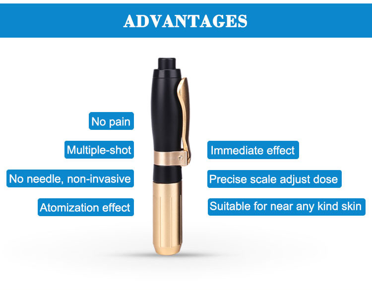 2019 Hot sale Anti-wrinkle hyaluronic injector atomization pen