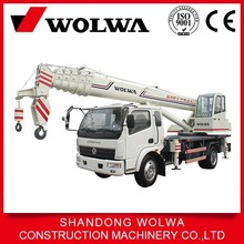 12 ton hoisting crane mounted on truck with joystick control for crane