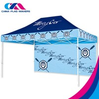 free design artwork custom flat top folding canopy tent for sale
