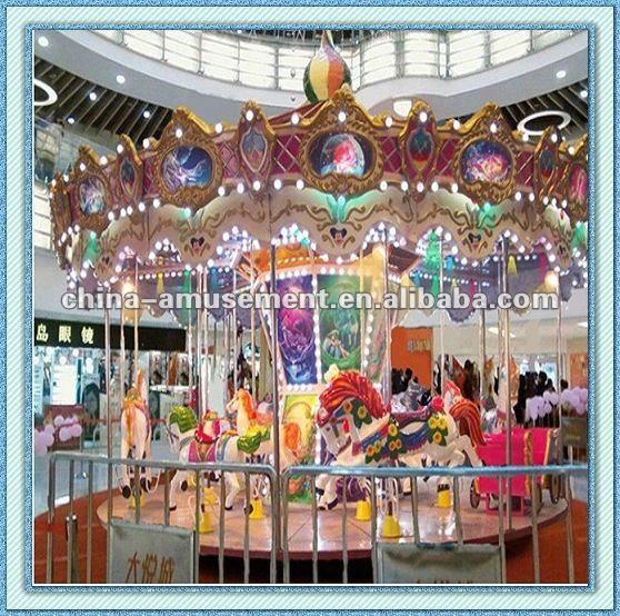 plastic tunnel outdoor playground kids ride carousel horse
