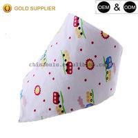 Promotional Lovely Cotton Baby Bandana Bib Personalized Custom Cute Printed Disposable Baby Bandana Teething Baby Bibs