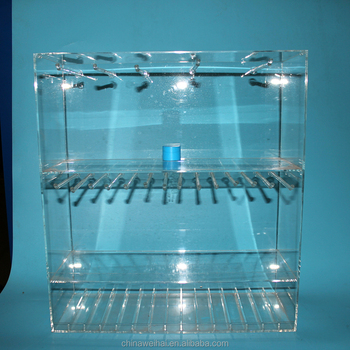 Transparent Plexiglass Display Stand For Mobile Accessories