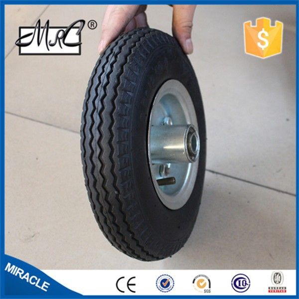 alibaba express high quality rubber wheel 3.50-8 swivel wheel trailer