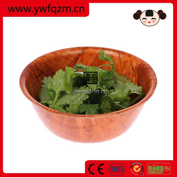 Wholesale 2016 new desig wood salad bowl