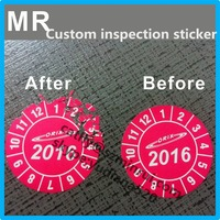 ultra destructible vinyl material custom company logo 2016 security label inspection,2016 warranty custom security sticker