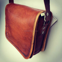 Real leather messenger bag from Annu creations from india