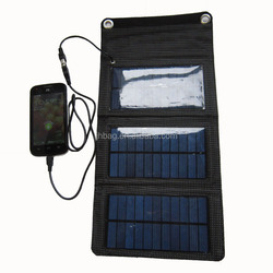 Outdoor Foldable Solar Charger Bag/Panel for hiking and camping
