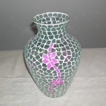 Simple Style Glass Mosaic Vase for Indoor Plant Pots