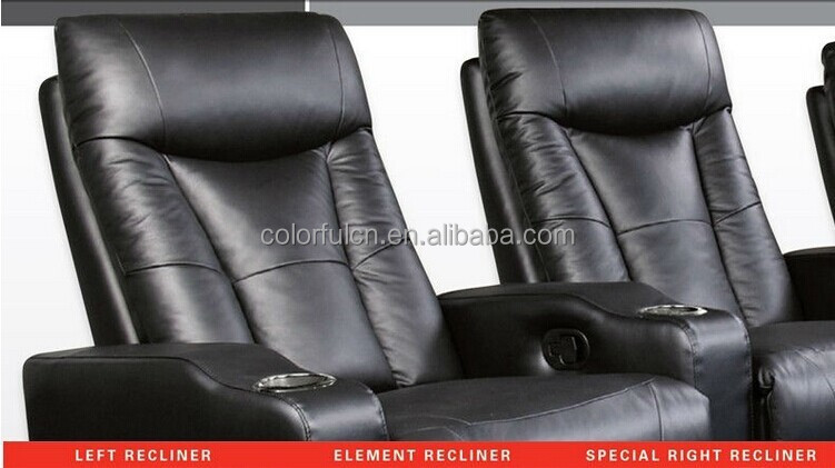 heimkino liege sofa f r zu hause hotel leder kino sofa. Black Bedroom Furniture Sets. Home Design Ideas
