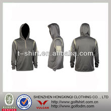 Gray Color Zipper Men's Long Sleeve Hoody Fishing Garment