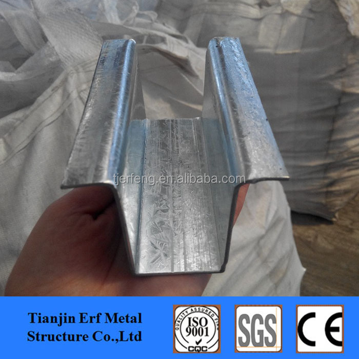 Galvanized Steel Channel Joist, Top Hat Channel ,Omega Shape Light Gauge Steel Profile Price