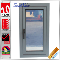 Australian standard As2047 WERS design double glass aluminium side opening window