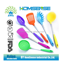 6 pcs colorful plastic kitchen utensils with good price