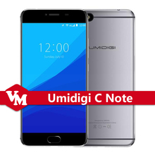 "Original Umidigi C Note Umi C Note Android 7.0 Unlocked Cell Phones 3G RAM 32G ROM MTK6737T Quad Core 4G LTE 5.5"" Mobile Phone"