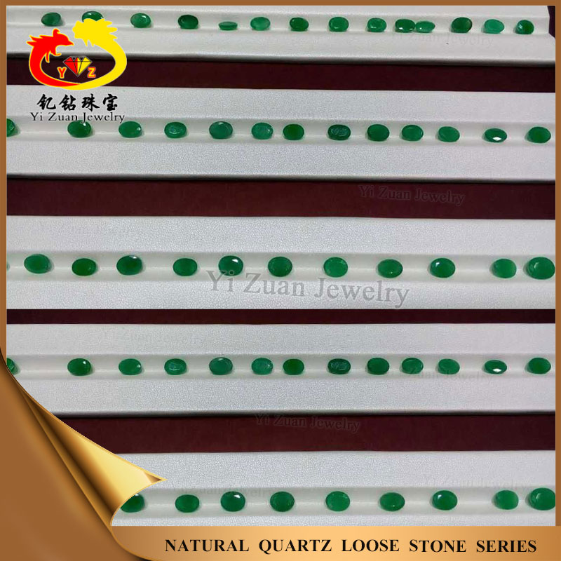 Bottom price hot sale oval shaped cabachon rough natural emerald stone