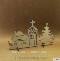 Laser Cut wooden Village in Christmas Decorating