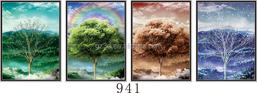 Good Printing 4 Season Flip Effect Plastic, Lenticular Poster With 3D Picture