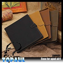book style business tablet cover For Apple iPad air leather flip case