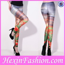 Sunset Glow Flowers Pattern Hot Sexy leggings for Girls