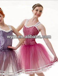 custom-made embroidered dance apparel/costumes for women or girl