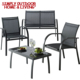 New Style Garden Patio Furniture Used Cast Iron Metal Sofa Set