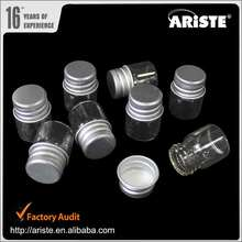 29546 High Quality Storage Aluminum Cap Transparent Glass bottle