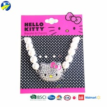 FJ brand baby best friends custom bead bracelets kids hello kitty pearl bracelet