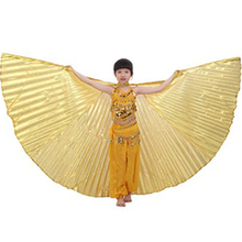 P-9025 Popular hot drill gold children belly dance isis wings wholesale