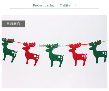 Christmas garland party decoration felt bunting