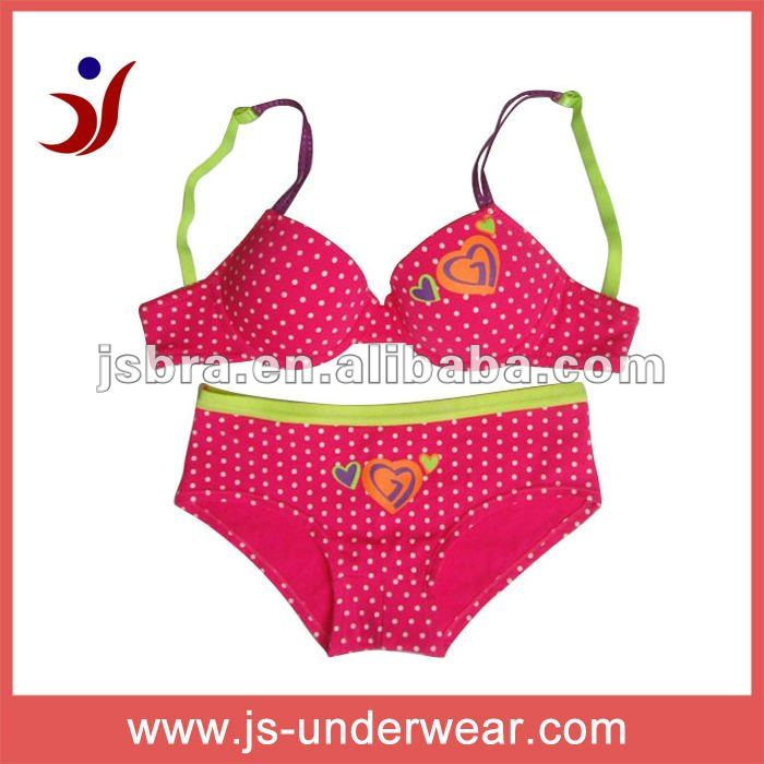 latest design teen girls sexy basic bra set