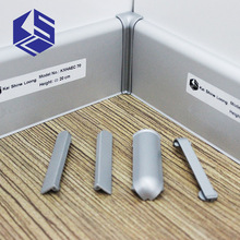Great value aluminum alloy silver wall cover skirting board floor cove